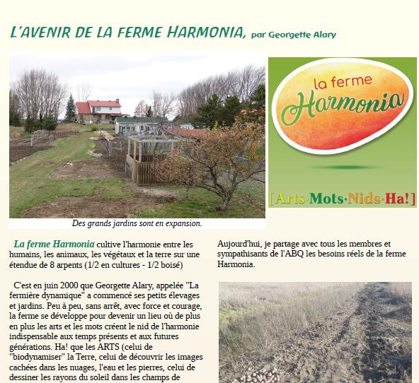 L'avenir de la ferme Harmonia