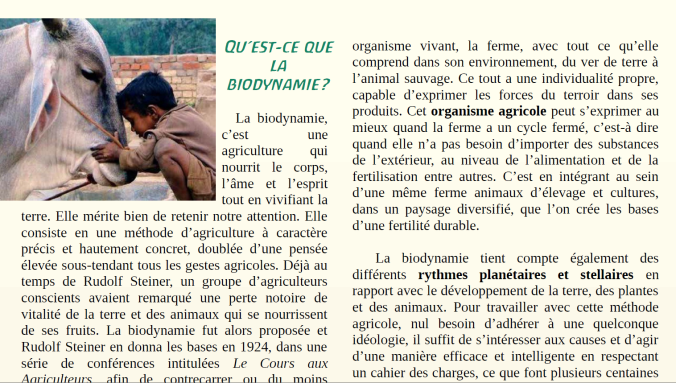Qu est ce que la biodynamie?